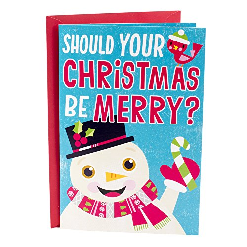 Hallmark Christmas Greeting Card for Kid with Popup Card and Song (Giant Snowman Pop Up) Christmas Card Kids