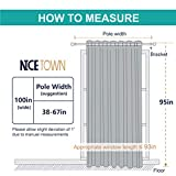 NICETOWN Sliding Door Curtains for Patio, Wide