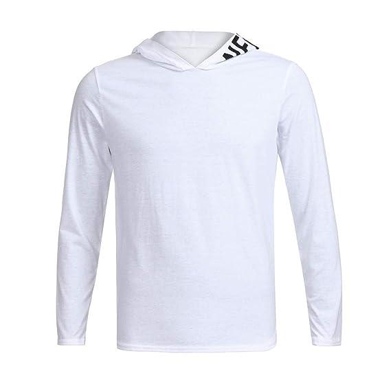 Yvelands Suéter de Manga Larga para Hombre Letra Impresa Suéter con Capucha Blusa de Corte Slim Top Casual Otoño.: Amazon.es: Ropa y accesorios