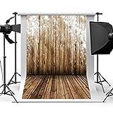 Qintec Photography Backdrops Rustic Backdrop Wood Photo Backdrop for Photography Studio Video Shooting 5x7ft