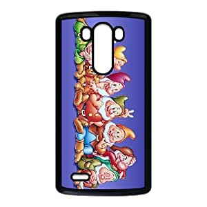LG G3 Cell Phone Case Covers Black Snow White and the Seven Dwarfs P2V8H