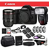 Canon EOS 5D Mark IV Digital SLR Camera 24-105mm f/4L II Lens Bundle 64GB Memory Card International Version
