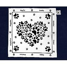 Paw Print Heart Bandana's (Wholesale Pack - 25 Bandanas)