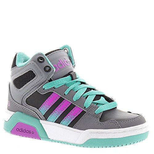 adidas NEO BB9TIS K Basketball Shoe (Little Kid/Big Kid) (5.5 US Big Kid, Black/Pink)