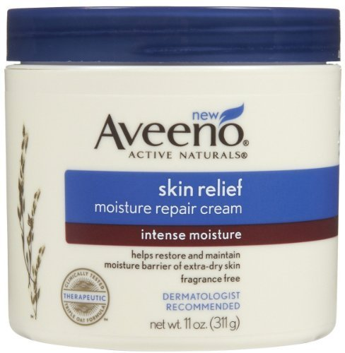 Aveeno Skin Relief Intense Moisture Repair Cream, 11 oz (Pack of - Repair Natural Skin