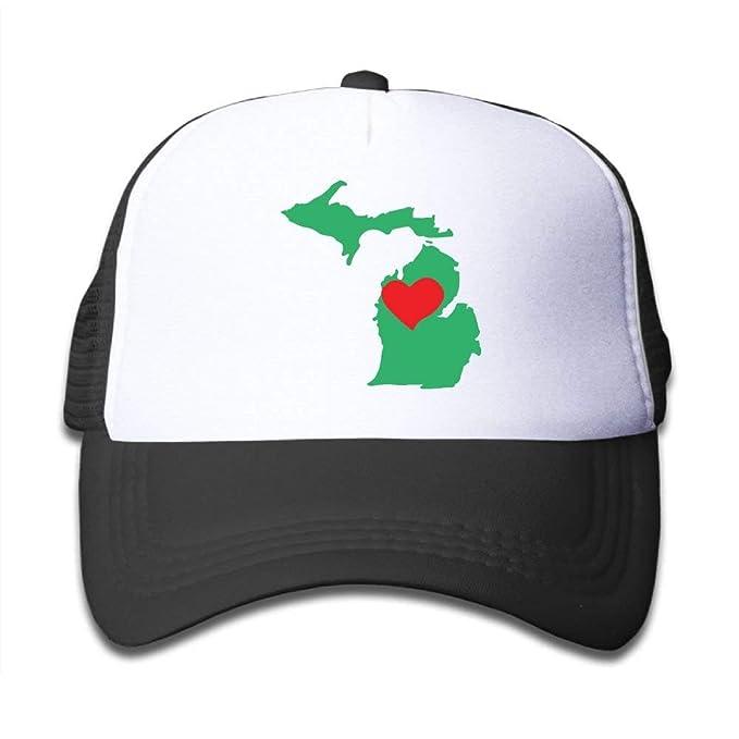 Nifdhkw Mapa del Estado de Michigan en el Sombrero del Camionero ...