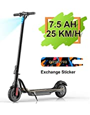 """MEGAWHEELS S10 Electric Scooter Commute to Work or Ride for Fun, 7500 mAh Long Range Battery, Up to 25 KM/H, 8.0"""" Tires, Portable and Folding Commuter Electric Scooter for Adults"""