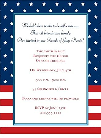amazon com noteworthy collections patriotic invitations 4th of