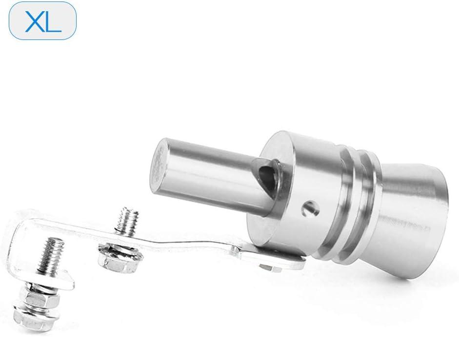 10,2 /× 2,5 cm Nero KKmoon Turbo Suono Whistle Auto Tubo di Scarico Terminale di Scarico BOV Simulatore Valvola di Scarico Alluminio