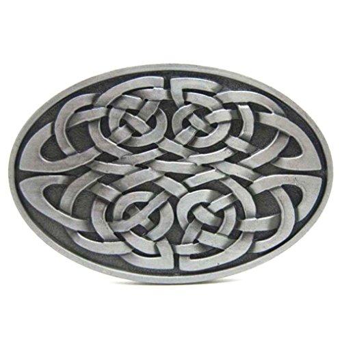 Brass Celtic Knot - MASOP Oval Keltic Celtic Knot Belt Buckles Head Mens Metal Silver Legend Phoenix