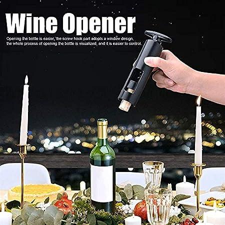 wsxc Sacacorchos de Vino, Tornillo Manual, Tipo de Base de Funda de Doble Capa Hebilla bit Robusta, Fuerte y Duradero, Usado en la Cocina Barra de Restaurante