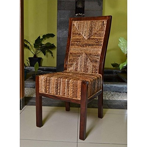 International Caravan SG-3306-2CH-IC Furniture Piece Set of Two Dallas Abaca Weave Dining Chair by International Caravan