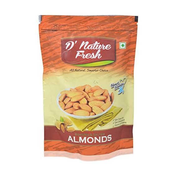 D'Nature Fresh Roasted And Salted Almonds, Salted, 250 grams