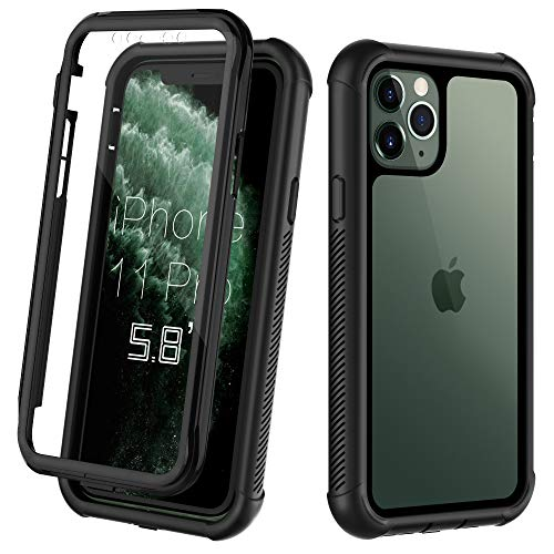 ORDTBY iPhone 11 Pro case, Full-Body Heavy-Duty Protection with Built-in Screen Bumper Protector 360 Protective…