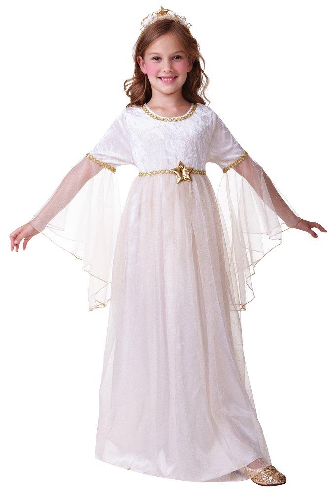 Bristol Novelty C446 - Disfraz de ángel de manga larga, para niños y niñas de 3 a 5 años. Talla: S, 110-122 cm de largo.