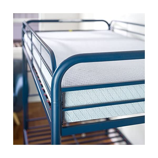 Zinus Easy Assembly Quick Lock Metal Bunk Bed Dual Ladders, Twin Over Twin, Blue 5