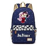 YOYOSHome Anime Inuyasha Cosplay Daypack Bookbag Backpack School Bag (Dark Blue 1)