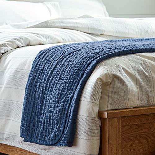 Stone & Beam Locklar 100% Cotton Lightweight Pick-Stiched Throw Blanket, 80