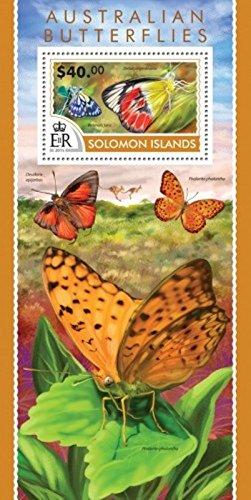 Solomon Islands - 2015 Australian Butterflies - Souvenir (Butterflies Souvenir Sheet)