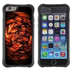 Suave TPU GEL Carcasa Funda Silicona Blando Estuche Caso de protección (para) Apple Iphone 6 PLUS 5.5 / CECELL Phone case / / Red Abstract /