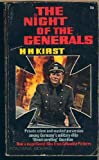 The Night of the Generals, Hans Hellmut Kirst, 0553123750
