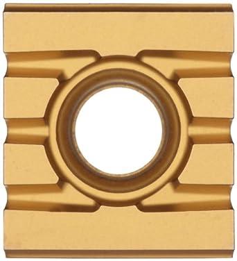 "Sandvik Coromant T-MAX SCREW CLAMP  Carbide Milling Insert, 215 Style, Rectangular, GC4040 Grade, Multi-Layer Coating, 21531211111,0.205"" Thick, 0"" Corner Radius (Pack of 10)"