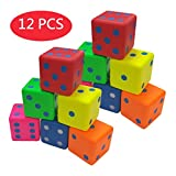Macro Giant 3.2 Inch Soft Foam Playing Dice, Set of 12, Round Edge, Toy Brick, Board Games, Math Teaching, Family Game, Wedding Games, Kid Toy Gifts, Birthday Gift, Educational toy