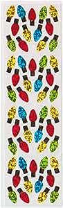 Con purpurina Mini Navidad luces sticker-from Violette pegatinas