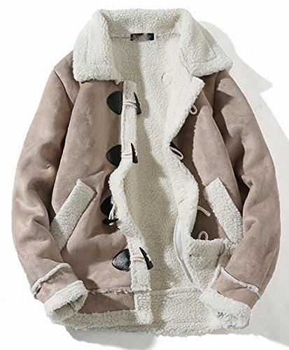 Mens Thicken 1 Biker Suede Jacket Lined Wool today UK Lamb gU5WTxqq6p