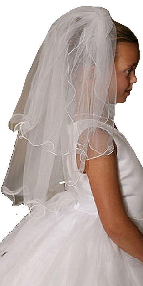 Communion Veil - Communion Veils Headpieces - First Communion Veil W/ Scallop Trim