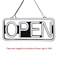 Remote Controlled LED Neon Open Sign - Rectangular Shape - 9