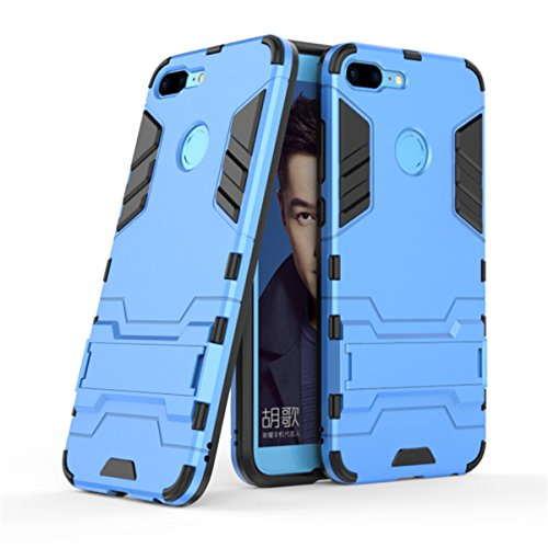 Huawei Honor 9 Lite Case,Gift_Source [Slim] Dual Layer Shockproof Hybrid Rugged Hard PC and TPU Soft Silicone Full-Body Protective Case Shell kickstand Cover For Huawei Honor 9 Lite (5.65