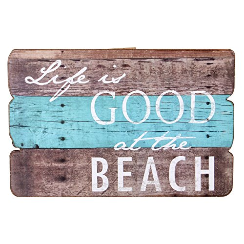 NIKKY HOME Life Is Good At The Beach Wooden Wall Decorative