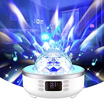 Star Projector Night time Gentle Bluetooth Speaker Bedside Desk Lamp with Alarm Clock FM Radio 360 Diploma Rotation Celebration Projector 6 Movies,Dimmable Heat Gentle & 7 Shade Altering Present for Lady Boy Ladies Males