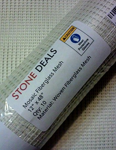 Stone Deals Mosaic Mesh for Back Mounted Tile 48″ x 12″ (10 Sheets – 40 Square Feet)