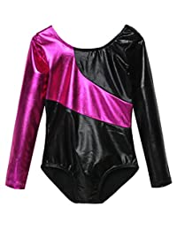 Arshiner Camisole Sparkle Long Sleeve Gymnastics Leotard for Girls