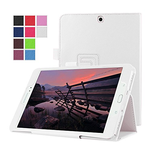 Tab S2 9.7 Case - SAVYOU Litchi Slim Folding Cover Case with Auto Wake/Sleep for Samsung Galaxy Tab S2 9.7 inch(White)