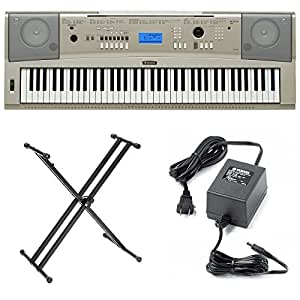 yamaha ypg235 76 key digital piano with yamaha double x stand and power adapter. Black Bedroom Furniture Sets. Home Design Ideas
