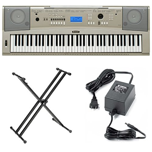Review Of Yamaha YPG235 76 Key Digital Piano with Yamaha Double X Stand and Power Adapter