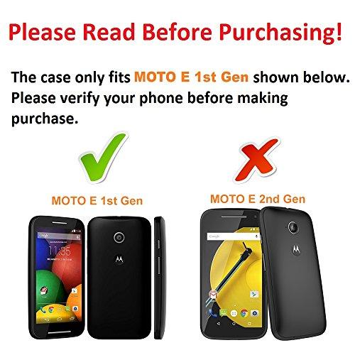 DuroCase ® Motorola Moto E 1st Gen. XT1021 (2014 Released) Hard Case Black - (United States Flag)