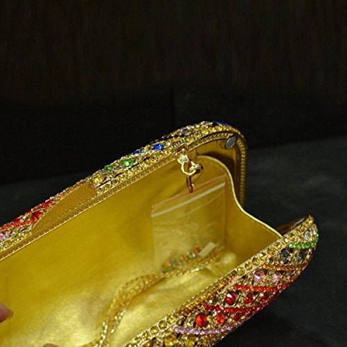 Embrayage De Mariage à Onecolor Des De Sac Diamant Gem Femmes Main Soirée Sac UrwIUnFXCq