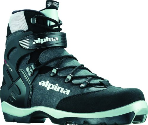 Alpina BC-1550 Back-Country Nordic Cross-Country Ski Boots, for use with NNN-BC Bindings, Black/Silver, 40 Alpina Cross Country Boot