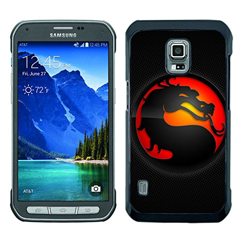 mortal kombat dragon background tongue circle Black Samsung Galaxy S5 Active Shell Case,Luxury Cover