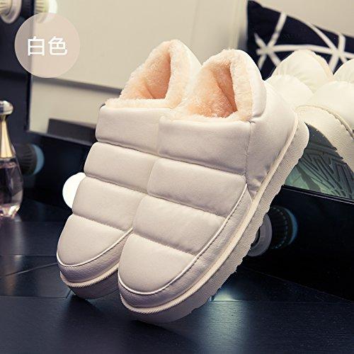 Blanco3 SHOES DogHaccd invierno los con de antideslizante otoño cálida libre aire al agua y paquete del resistente grueso estancia de e de Zapatillas amantes algodón Zapatillas interior q7qp4F