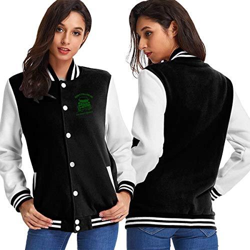 Don't Follow Me You Won't Make It Jeep Baseball Jacket Uniform Pockets Womens Black