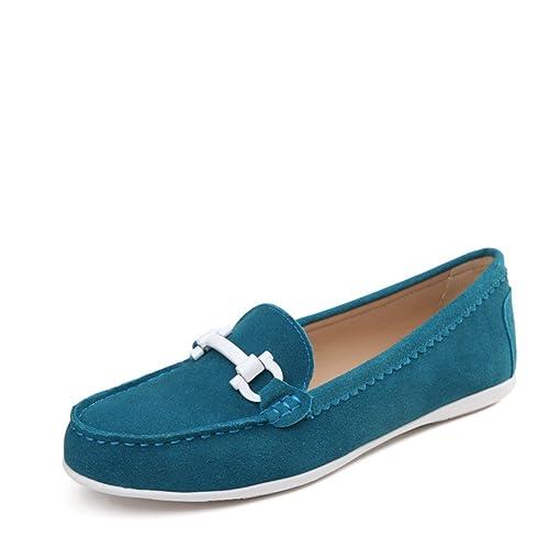 Dulce Primavera Viento Luz Zapatos,Calzado Casual,Zapatos Plano Finos Cuero,Zapatos Mocasines Estilo Coreano: Amazon.es: Zapatos y complementos