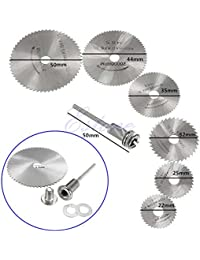 Bargain 1 Set/6 Pieces HSS Rotary Circular Saw Blades Tool Cutting Discs Mandrel For Dremel Cutoff wholesale