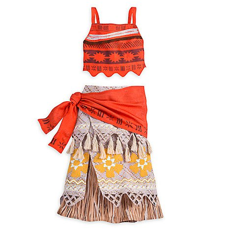 [DISNEY STORE PRINCESS MOANA COSTUME - GIRLS ~ 2016 (11/12)] (Polynesian Girl Costume)