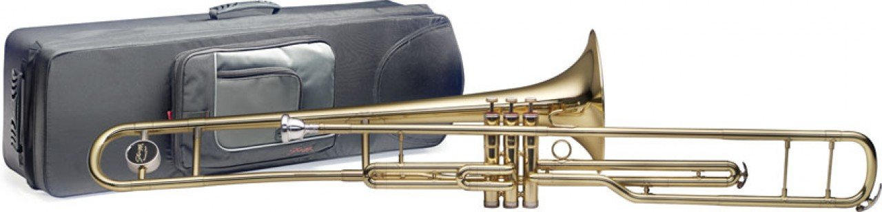Stagg 77-TV/SC  B-Flat Piston Valve Trombone with Soft Case