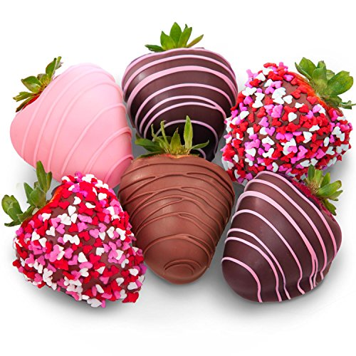 Golden State Fruit 6 Love Berries Valentine Chocolate Covered Strawberries